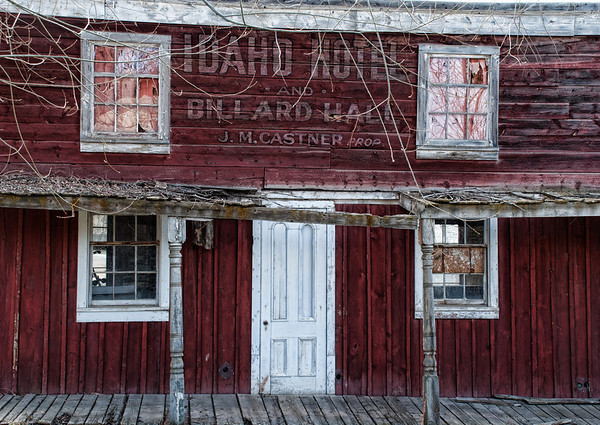 June 13 - Idaho Hotel Virginia City Montana<br /> <br /> Virginia City, Montana is an old gold mining town.  Some of the old buildings still stand, but most are uninhabitable. <br /> <br /> Thanks so much for all the comments on my second fox pup image.  I am not sure I will ever be fortunate enough to get more than one in a picture!