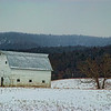 Mar 7 - Winter barn scene in West Virginia.  <br /> <br /> Thanks for your nice comments on the train parked in the snow image.  This image was taken on the same day - alas, the snow in the air - lol.  I am sooooo ready for spring!
