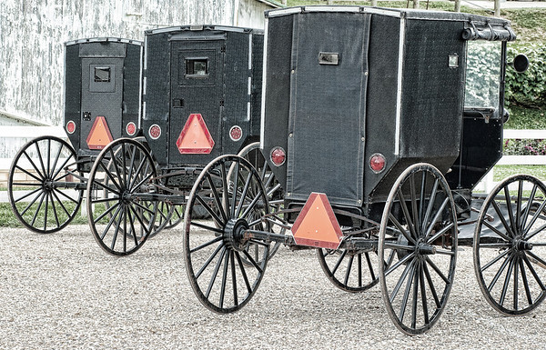 Sept 17 - Parked Amish Buggies<br /> <br /> Thanks for your comments on the Amish boy image I posted yesterday!