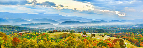 """Oct 18 - Early Fall Mountain Layers in Germany Valley, West Virgina<br /> <br /> This is a three image panoramic """"stitch""""."""