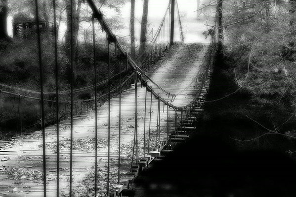 """July 30 - Wooden Bridge<br /> <br /> I processed this image from my archives.  Last fall I posted one in the dailies that was a color one and from a different angle.  I decided to post  this black and white version today.  The color version can be found here: <a href=""""http://www.jmannimages.com/Country/i-XgbBZPh"""">http://www.jmannimages.com/Country/i-XgbBZPh</a><br /> <br /> <br /> Thanks so much for your comments on my Three Mule Deer image I posted yesterday!"""