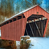Jan 12 - Marshville Covered Bridge<br /> <br /> This bridge is close to my home and in West Virginia.  It is still used as you can see some old tire tracks being covered by the snow.<br /> <br /> Thanks for you comments on my recent images.  They are so much appreciated.