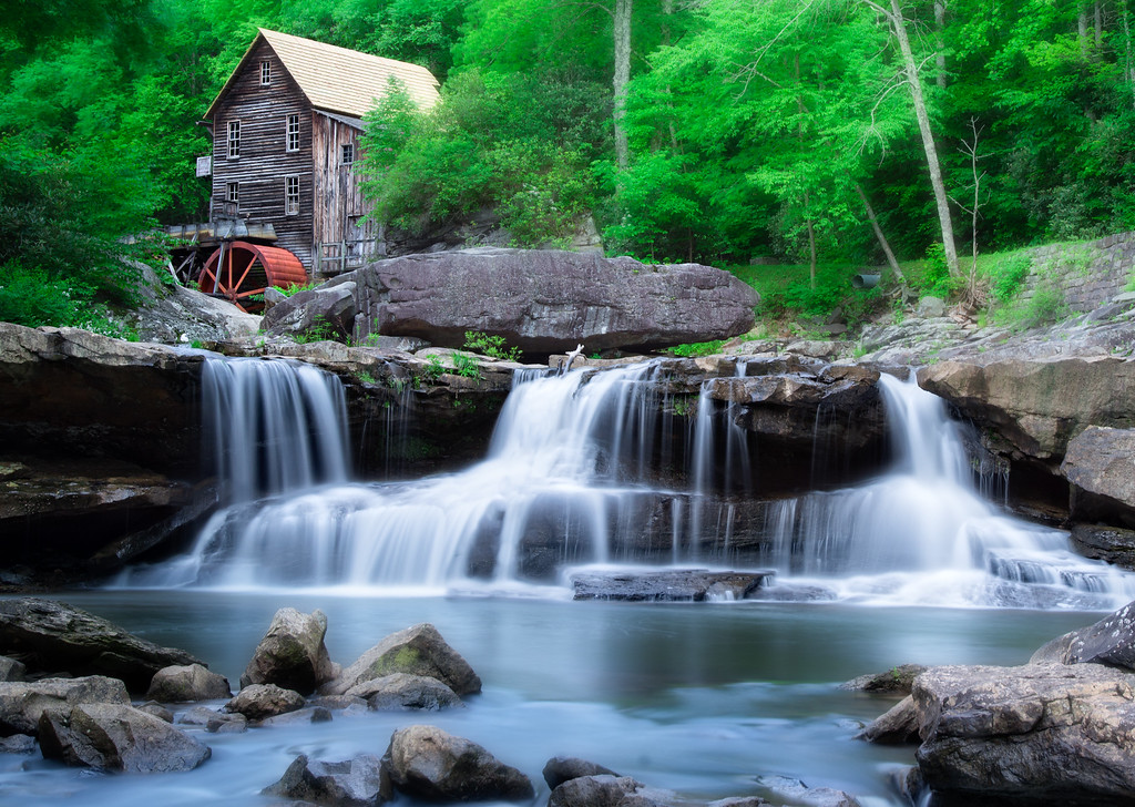 June 7 - The Glade Creek Grist Mill<br /> <br /> This image was taken at Babcock State Park in West Virginia.  The Glade Creek Grist Mill is a new mill that was completed in 1976 at Babcock.  Fully operable, this mill was built as a re-creation of one which once ground grain on Glade Creek long before Babcock became a state park.<br /> <br /> Thanks so much for your comments on my car image I posted last week.  And thanks for identifying the make and model!