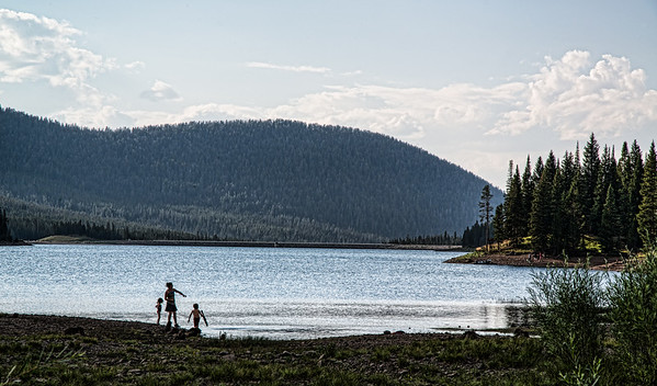 Jan 21 - Sibling Summer Fun<br /> <br /> An image from this past summer.  I saw these three kids having summer fun against that wide expanse and decided to capture it.  Thanks for your comments on my Cold Country Morning image I posted yesterday.