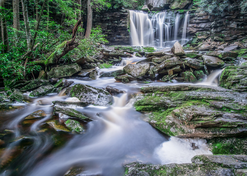Elakala Falls #1 - This is the second falls of Shays Run as it descends into the Blackwater Canyon.<br /> <br /> Thanks so much for your comments on the Blackwater Falls image I posted yesterday.  This is a waterfall from a tributary of the Blackwater River known as Shay's Run.