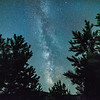 Oct 21 - Over The Tree Tops<br /> <br /> The core of the Milky Way was very clear one evening.