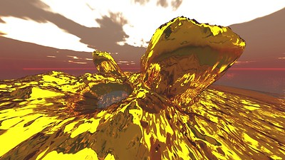 Gold Island 16 : A Computer Generated Image from Daily Animation