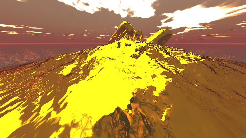 Gold Island 14 : A Computer Generated Image from Daily Animation