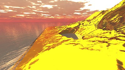Gold Island 9 : A Computer Generated Image from Daily Animation