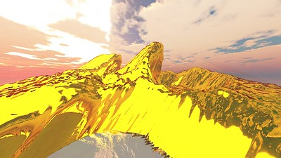 Gold Island 10 : A Computer Generated Image from Daily Animation