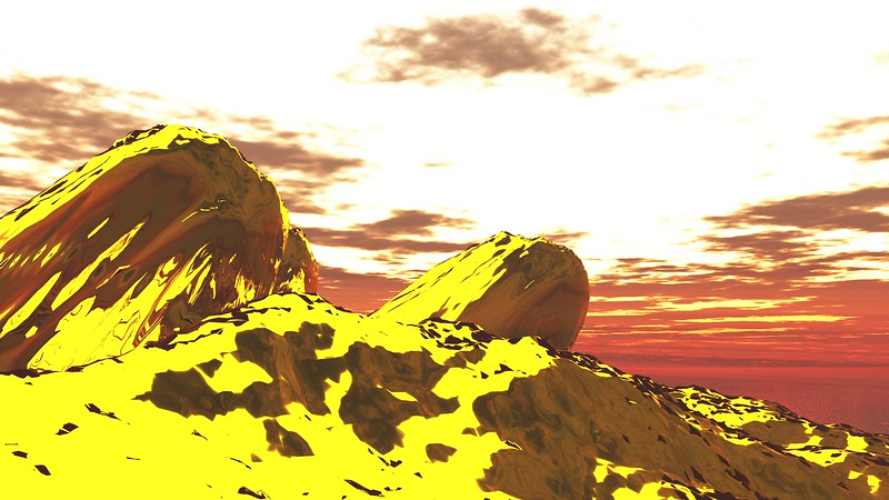 Gold Island 4 : A Computer Generated Image from Daily Animation