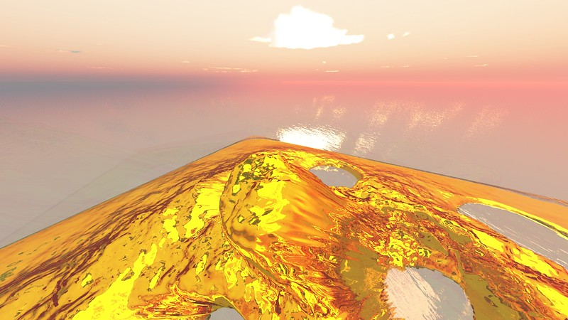 Gold Island 23 : A Computer Generated Image from Daily Animation