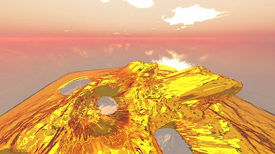 Gold Island 21 : A Computer Generated Image from Daily Animation