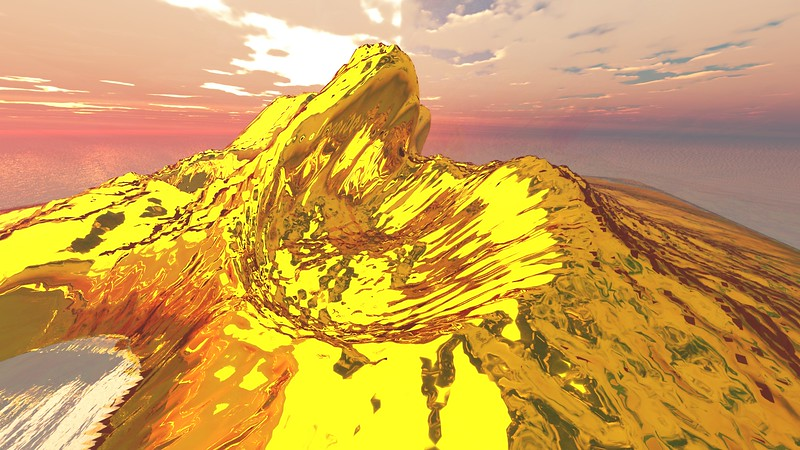 Gold Island 11 : A Computer Generated Image from Daily Animation