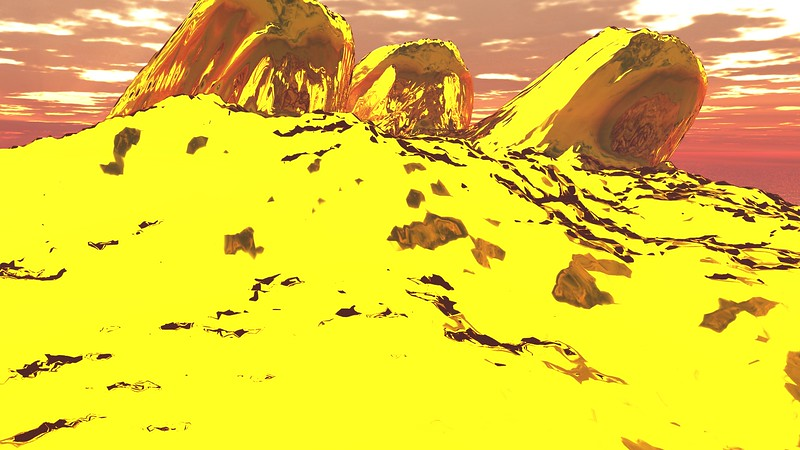 Gold Island 6 : A Computer Generated Image from Daily Animation