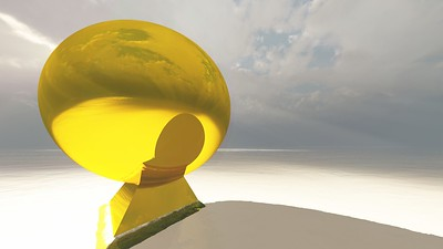 Gold Statue 13 : A Computer Generated Image from Daily Animation