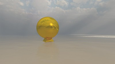 Gold Statue 7 : A Computer Generated Image from Daily Animation