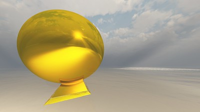 Gold Statue 9 : A Computer Generated Image from Daily Animation