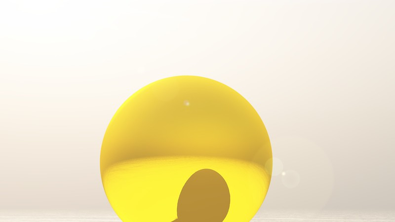 Gold Statue 1 : A Computer Generated Image from Daily Animation
