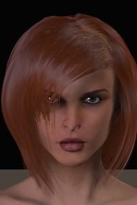 February 2016 Female Face CGI Render 3