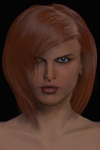 January 2016 Female Face CGI Render 1