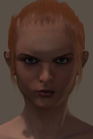January 2016 Female Face CGI Render 3
