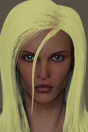 January 2016 Female Face CGI Render 6