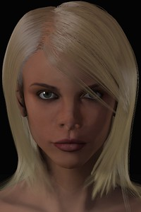 January 2016 Female Face CGI Render 2