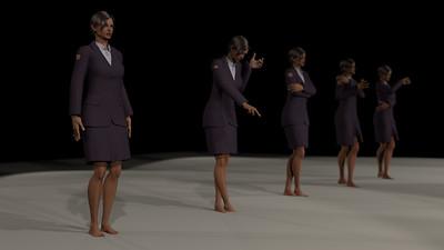 Business Woman Scene Multiple Rigging CGI Render 4
