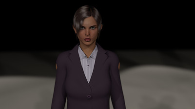 Business Woman Scene Multiple Rigging CGI Render 6