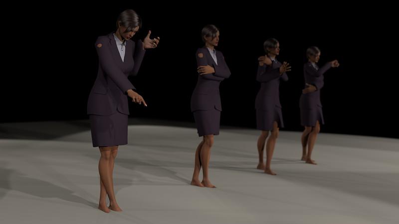 Business Woman Scene Multiple Rigging CGI Render 15