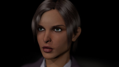 Business Woman Scene Multiple Rigging CGI Render 7