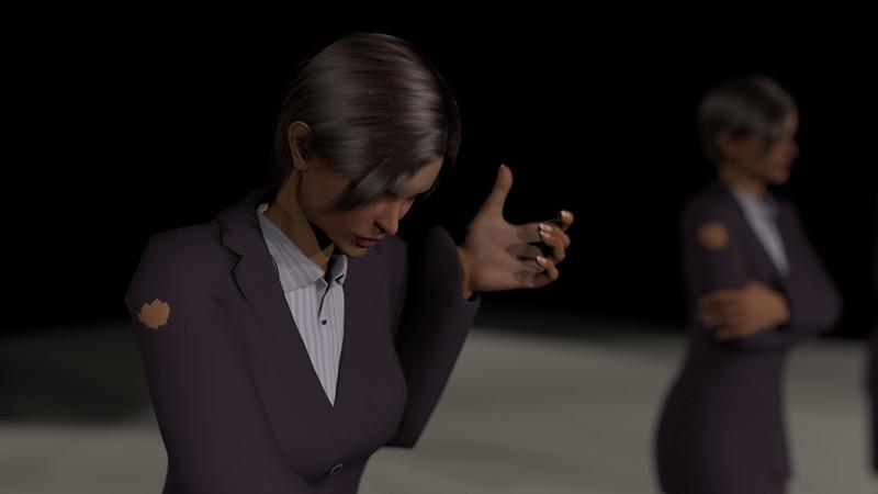 Business Woman Scene Multiple Rigging CGI Render 22
