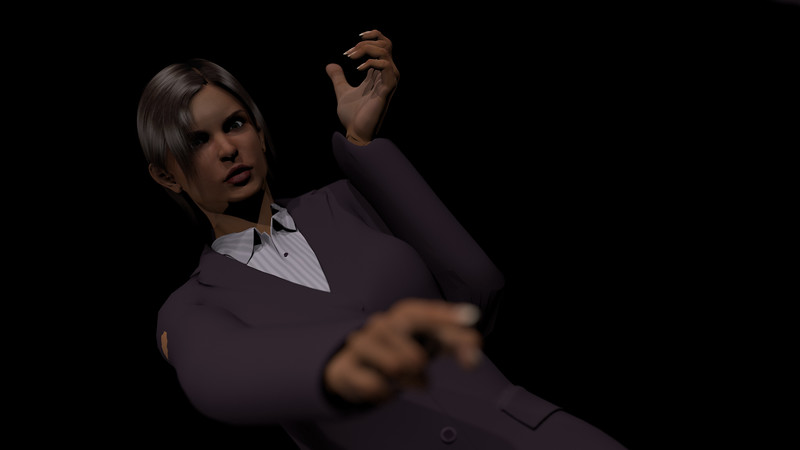 Business Woman Scene Multiple Rigging CGI Render 21