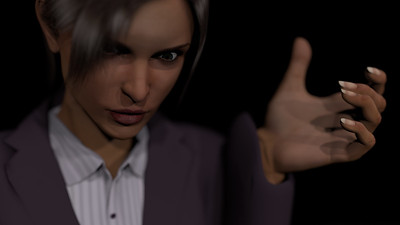 Business Woman Scene Multiple Rigging CGI Render 24