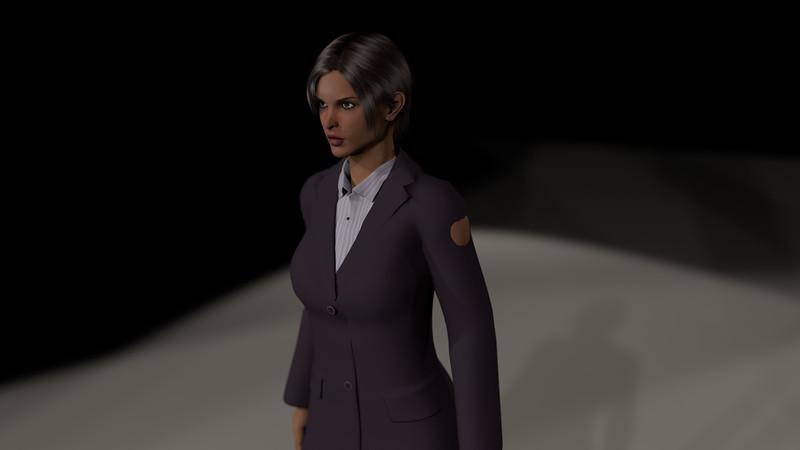 Business Woman Scene Multiple Rigging CGI Render 5