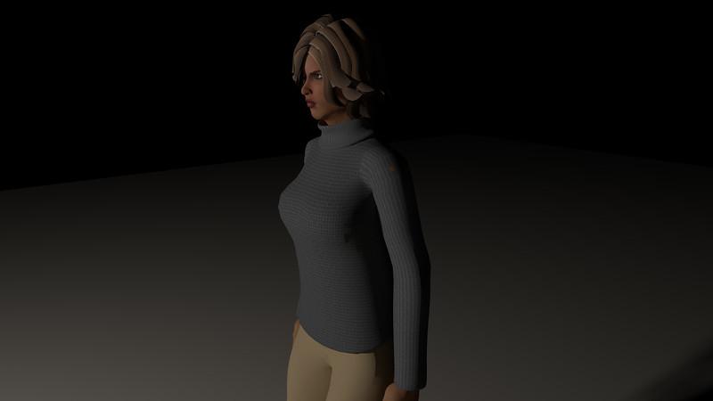 Casual Woman Pose 4 CGI Render 7