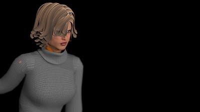 Casual Woman Pose 3 CGI Render 5