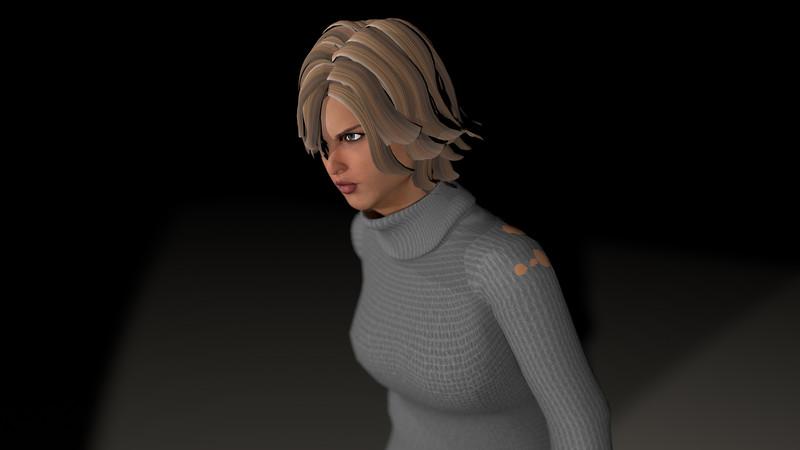 Casual Woman Pose 3 CGI Render 20