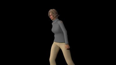 Casual Woman Pose 3 CGI Render 13