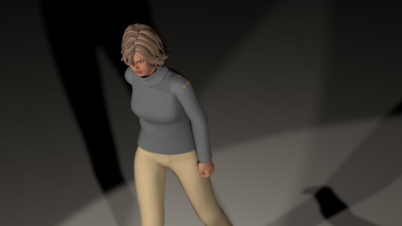 Casual Woman Pose 3 CGI Render 15
