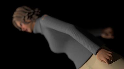 Casual Woman Pose 3 CGI Render 10
