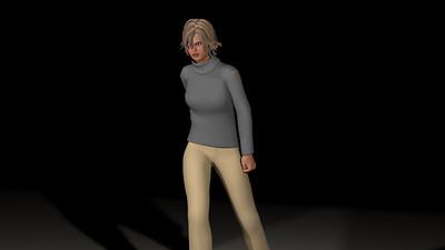 Casual Woman Pose 3 CGI Render 14