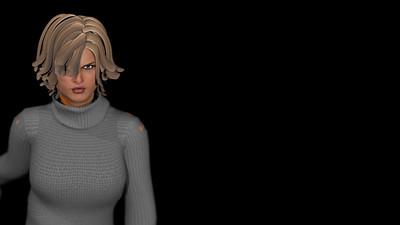 Casual Woman Pose 3 CGI Render 6