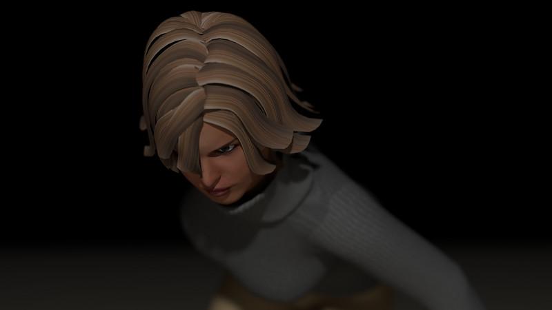 Casual Woman Pose 2 CGI Render 2
