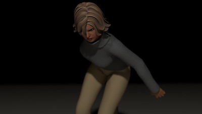 Casual Woman Pose 2 CGI Render 3