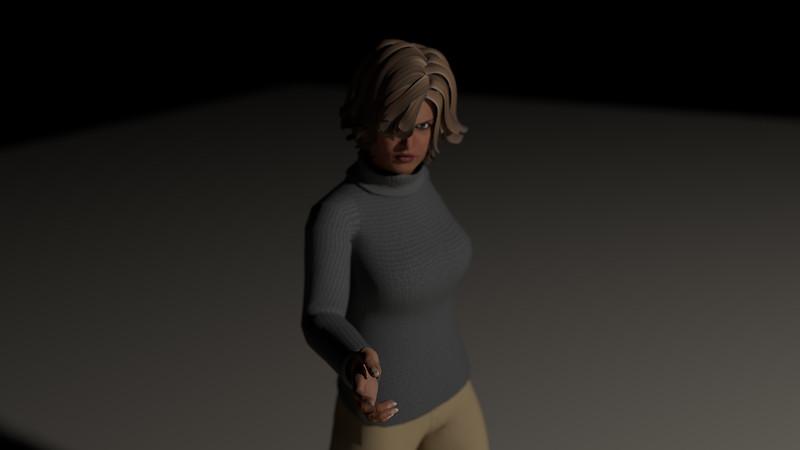 Casual Woman Pose 1 CGI Render 17