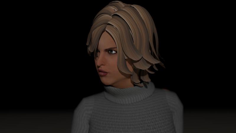 Casual Woman Pose 1 CGI Render 1