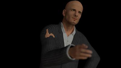 Business Man Scene Multiple Rigging (Corrected Textures) CGI Render 22