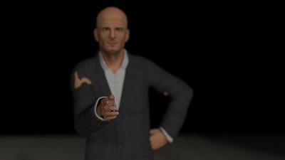 Business Man Scene Multiple Rigging (Corrected Textures) CGI Render 24